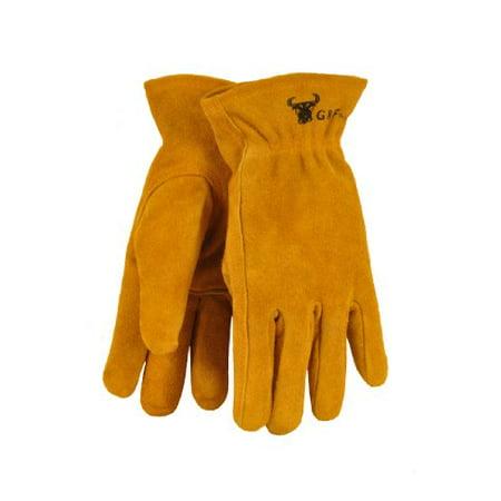 G & F 5013L JustForKids Kids Genuine Leather Work Gloves, Kids Garden Gloves, 7-9 Years Old - Old Globes