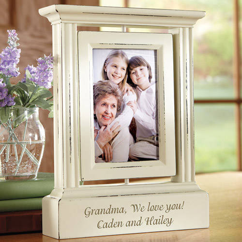 Personalized Rotating Photo Frame, Single or Double