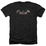 Arkham City Bat Fill Mens Heather Shirt