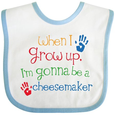 Inktastic Cheese Maker Future Baby Bib Cute Handprints Handprint Occupation Job Career Kids Gift Clothing Infant (Best Cheese For Baby)