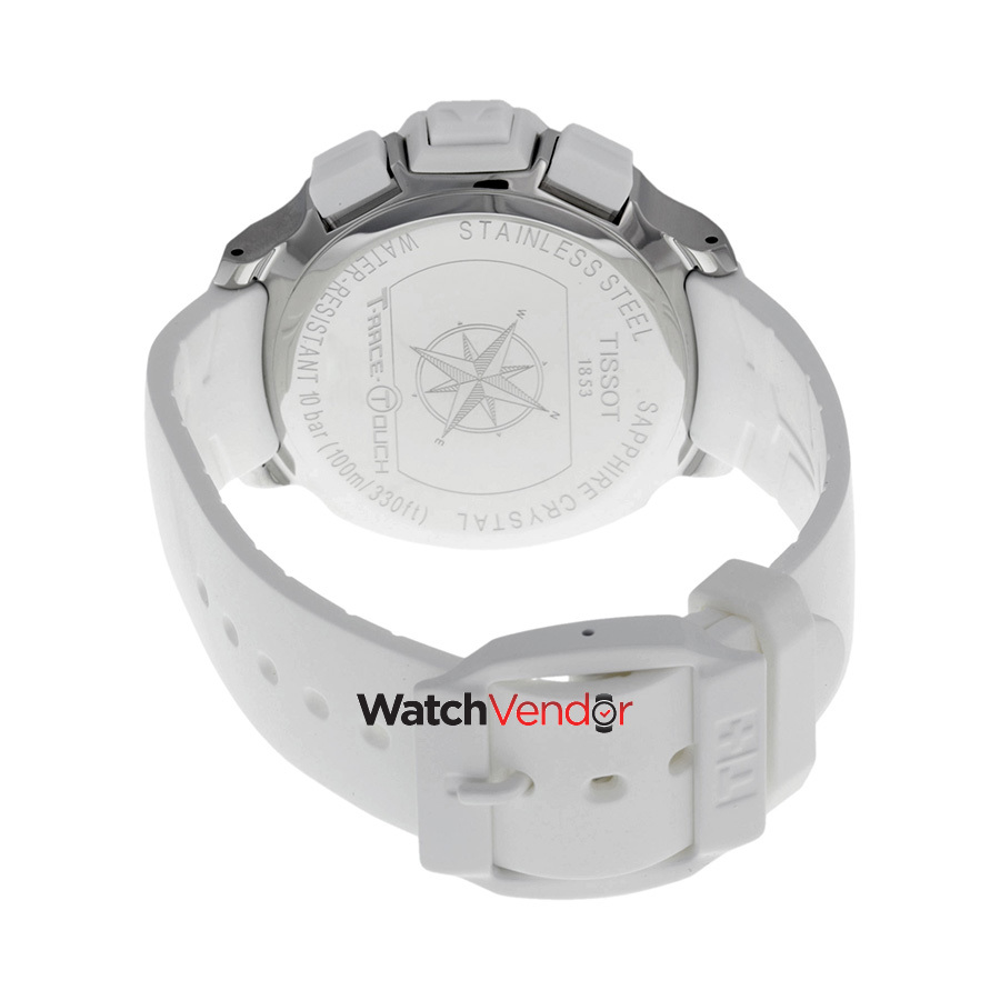 0ba37b8cd4d Tissot T-Race Touch White Analog Digital Dial White Unisex Watch  T0814201701701