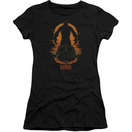 Kong Skull Island  Kong Silhouette Girls Jr Black