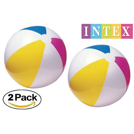 Lot of 2 - Intex Glossy Panel 24 inch Inflatable Swimming Pool / Beach Ball - Beach Ball Inflatable