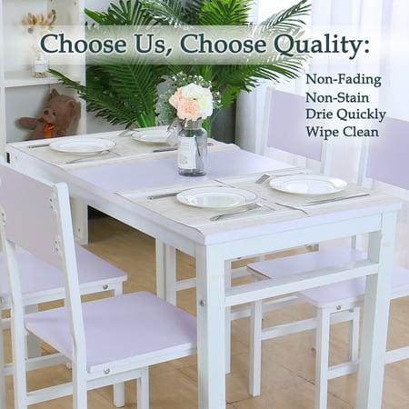 Placemats PVC Heat-resistant Non-slip Insulation Washable Table Mats 4pcs #18 - image 6 de 8
