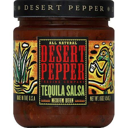 Desert Pepper Medium Burn Tequila Salsa, 16 oz, (Pack of 6)