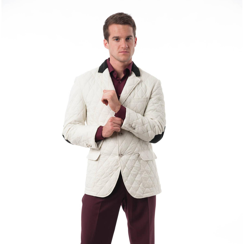 ba41f94d5dc Verno - Big Men s White Quilted Notched Lapel Sports Coat - Walmart.com