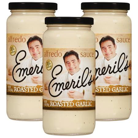 (3 Pack) Emeril's Roasted Garlic Alfredo Sauce, 16 -