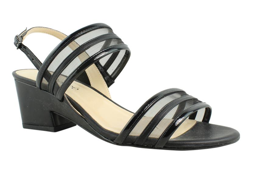 New J. Renee Womens Erma-Pablk Black Sandals Size 7.5 Wide (C, D, W) by J. Renee