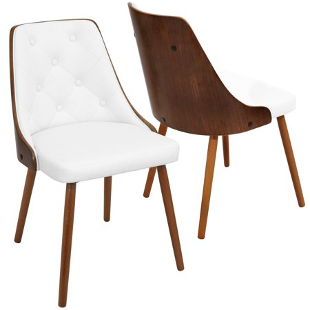 Astounding Lumisource Gianna Mid Century Modern Walnut Wood Dining Chair Lamtechconsult Wood Chair Design Ideas Lamtechconsultcom