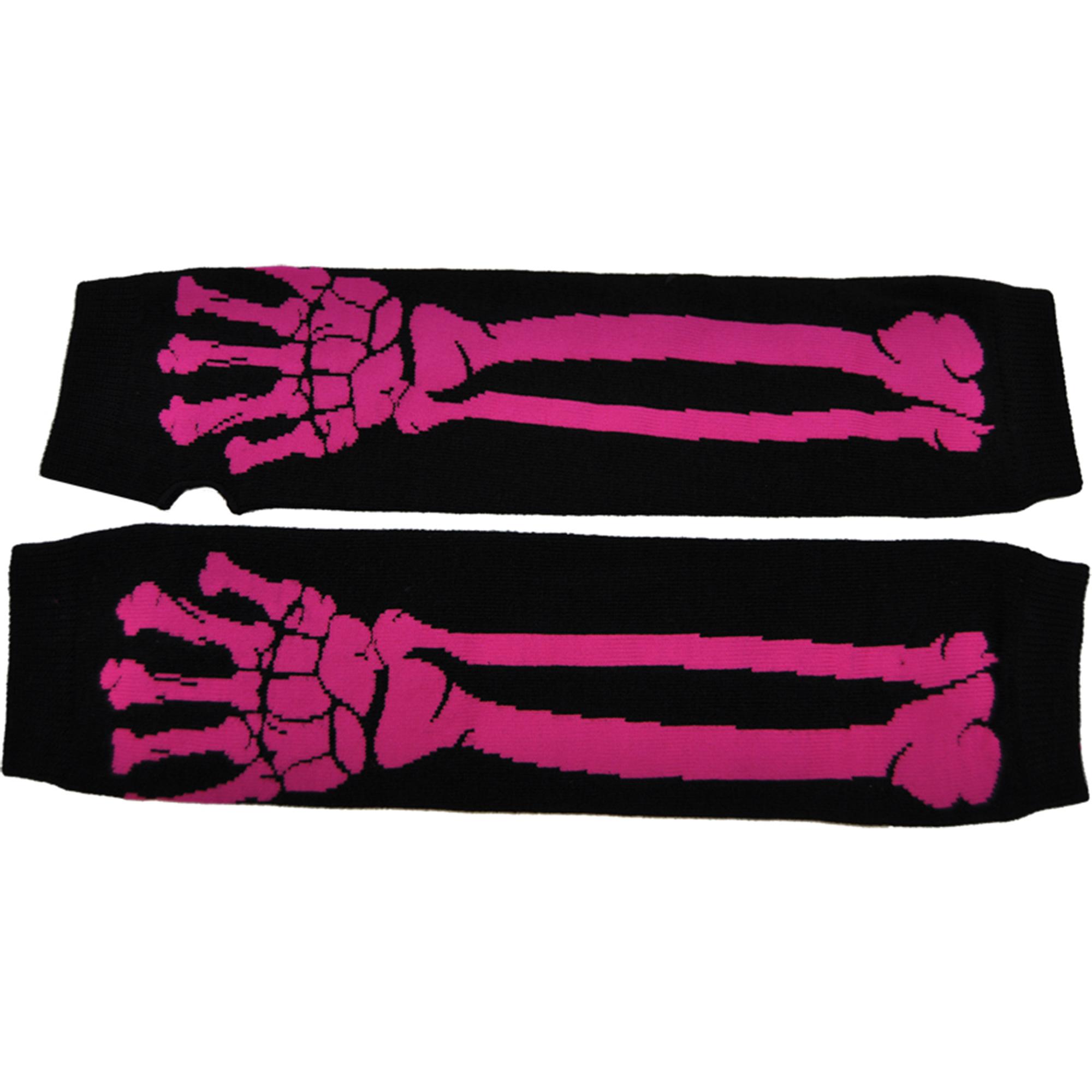 Morris Costumes Glove Long Pink Bone Print, Style, SA10428