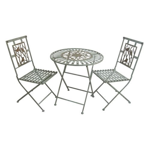 Alpine Birds On Branches 3-Piece Bistro Set - Table and 2 Chairs