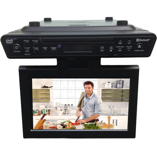 under cabinet kitchen tv dvd combo sylvania bluetooth wireless the counter cabinet 27489