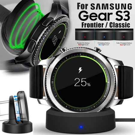 Qi Wireless Charging Dock Cradle Charger for Samsung Galaxy Gear S3 Classic / Samsung Galaxy Gear S3 Frontier