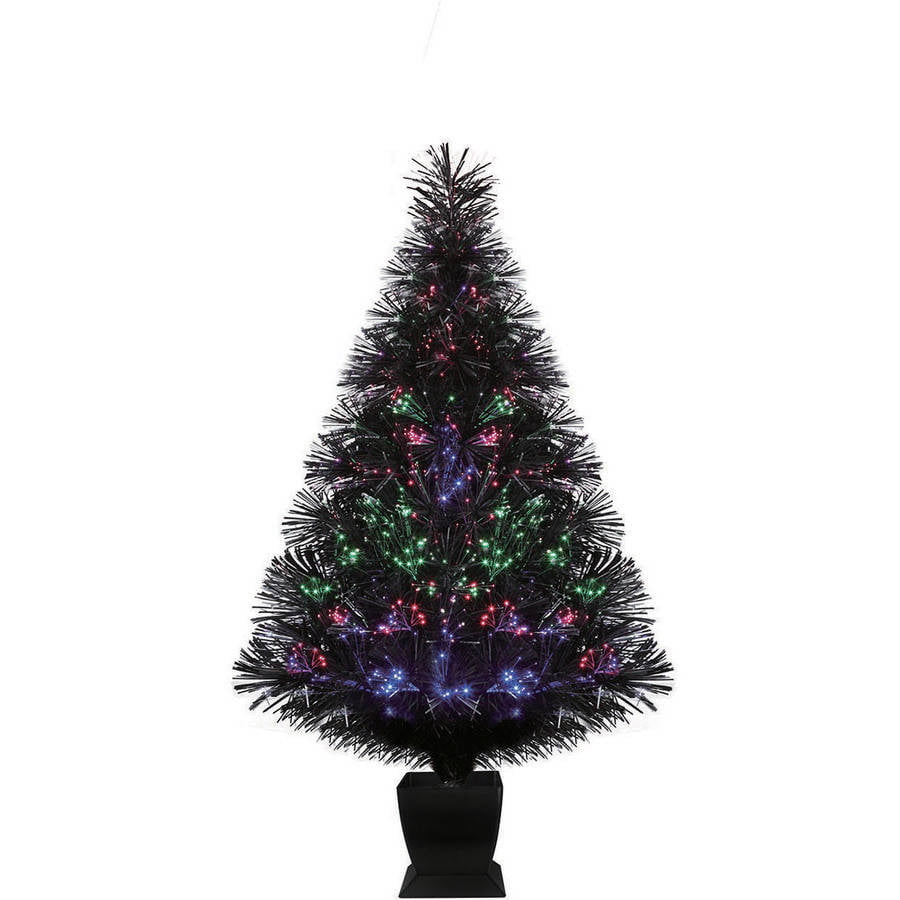 best choice products 75ft premium spruce hinged artificial christmas tree w stand walmartcom - Black Christmas Trees