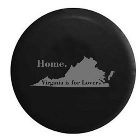 Virginia is for Lovers Home State Edition Spare Tire Cover Vinyl Stealth Black 27.5 in