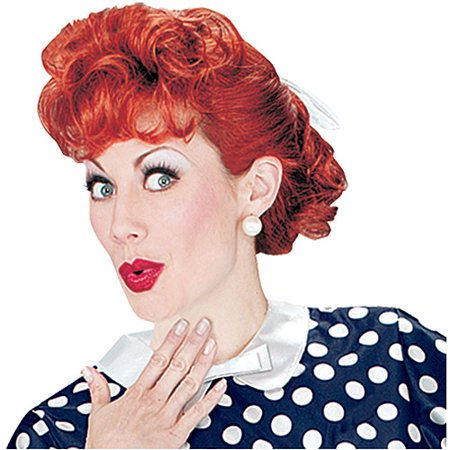 i love lucy wig adult halloween accessory - Red Wigs For Halloween