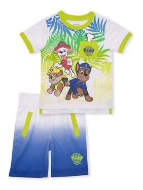 Paw Patrol Baby Toddler Boy T-shirt & Shorts, 2 pc Outfit Set