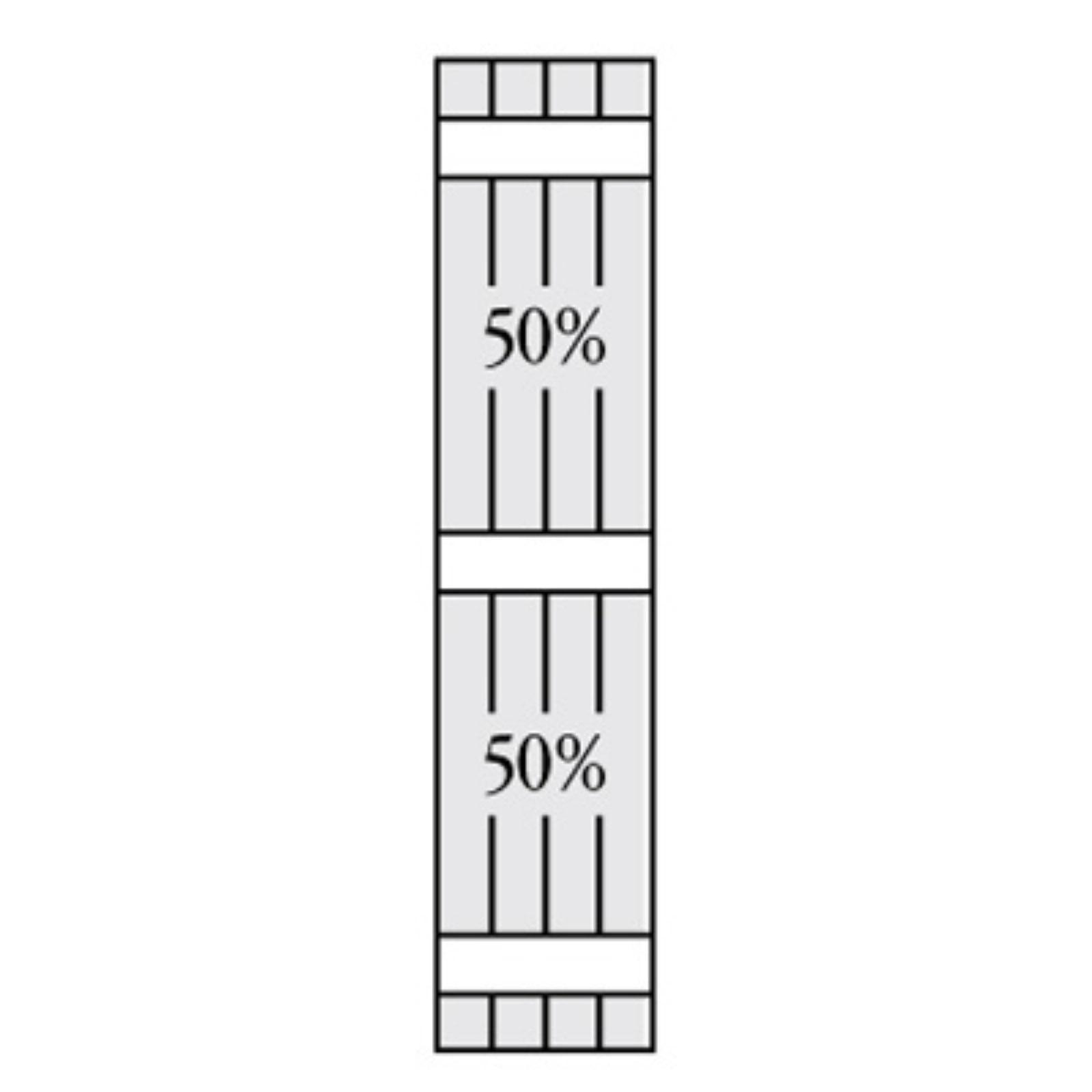 Perfect Shutters 17.25W in. Closed Board-N-Batten Vinyl Shutters