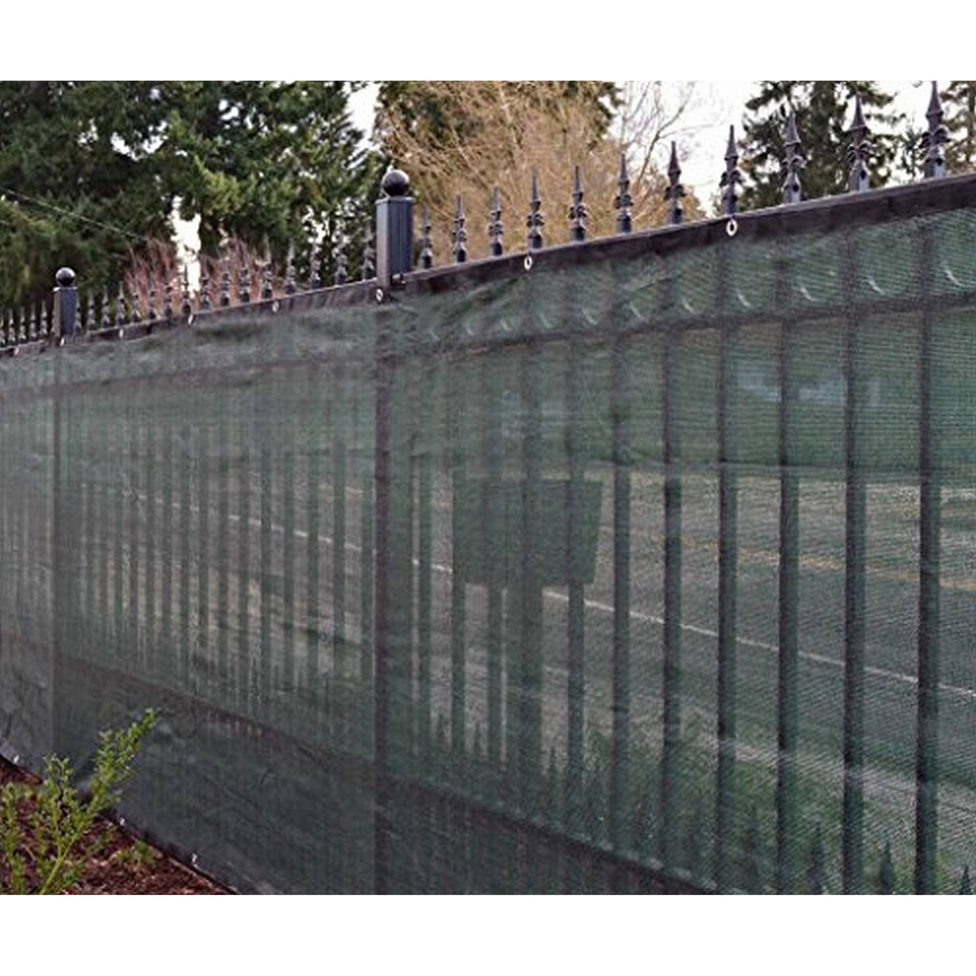 Aleko 5' x 50' Dark Green Fence Privacy Screen Windscreen Shade Cover Mesh Fabric