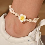 Shells Weave Rope Ankle Bracelet Woven Braid Leather Ropes Adjustable Anklets Bracelets Jewelry