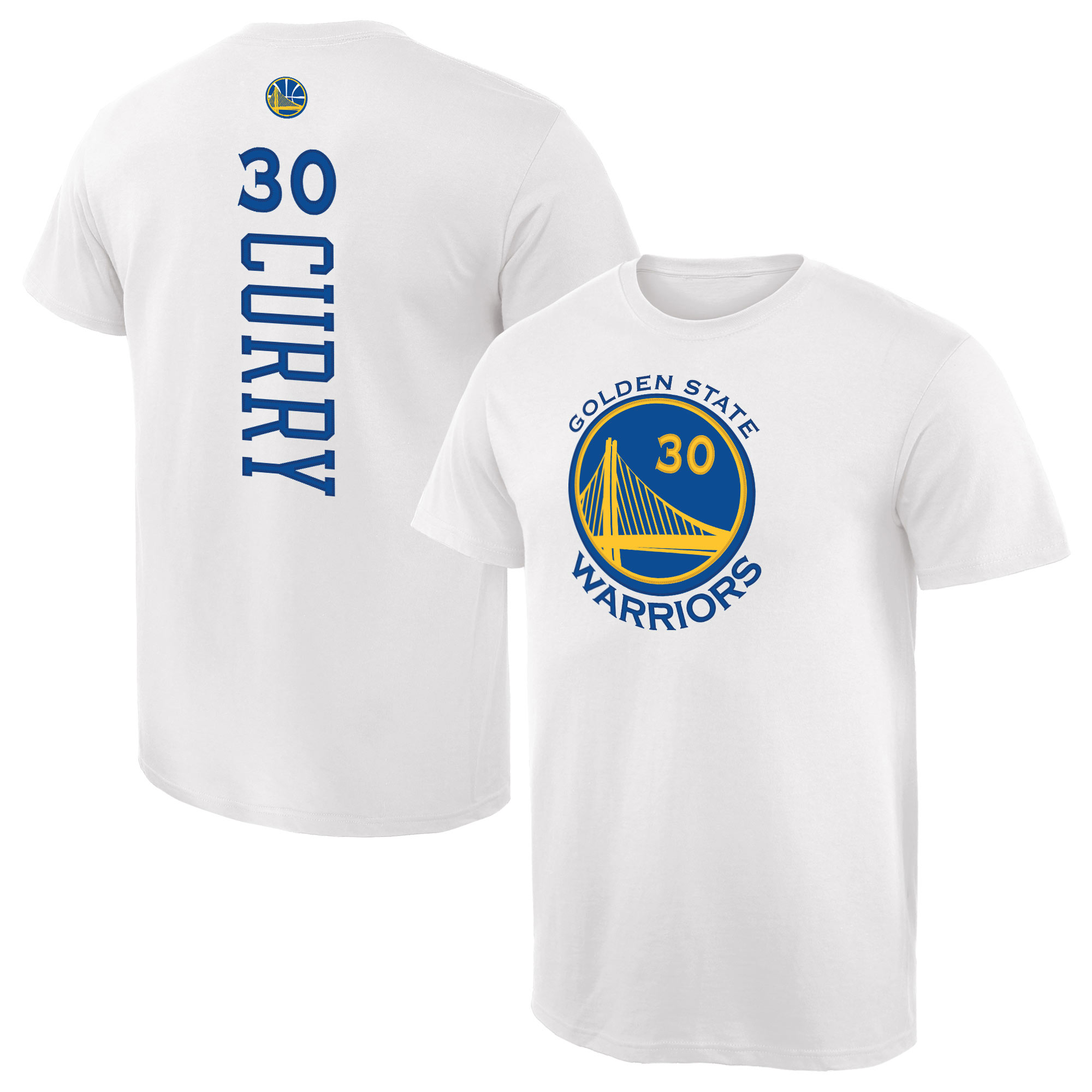 Stephen Curry Golden State Warriors Fanatics Branded Backer Name & Number T-Shirt - White