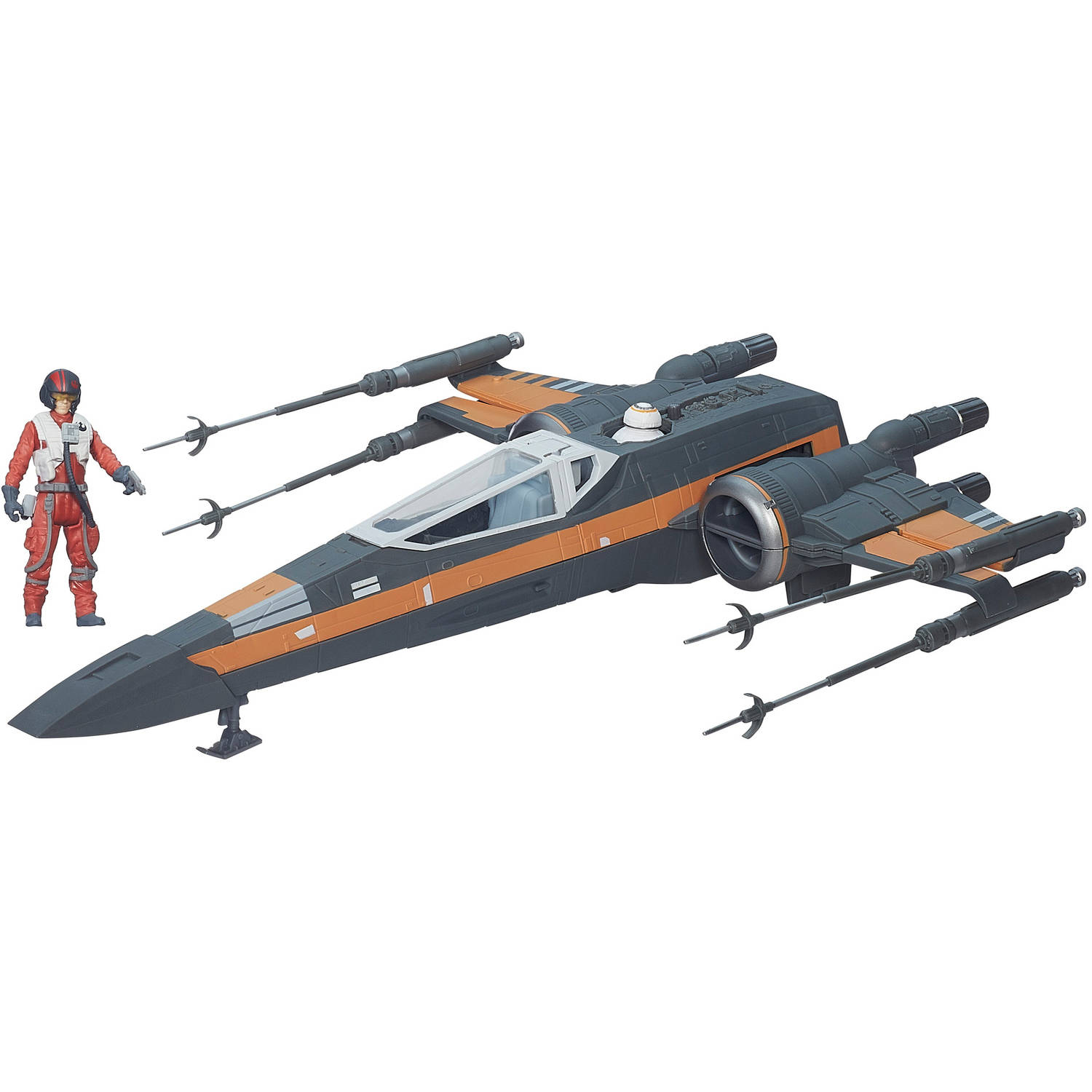 "Star Wars The Force Awakens 3.75"" Vehicle Poe Dameron's X-Wing ..."