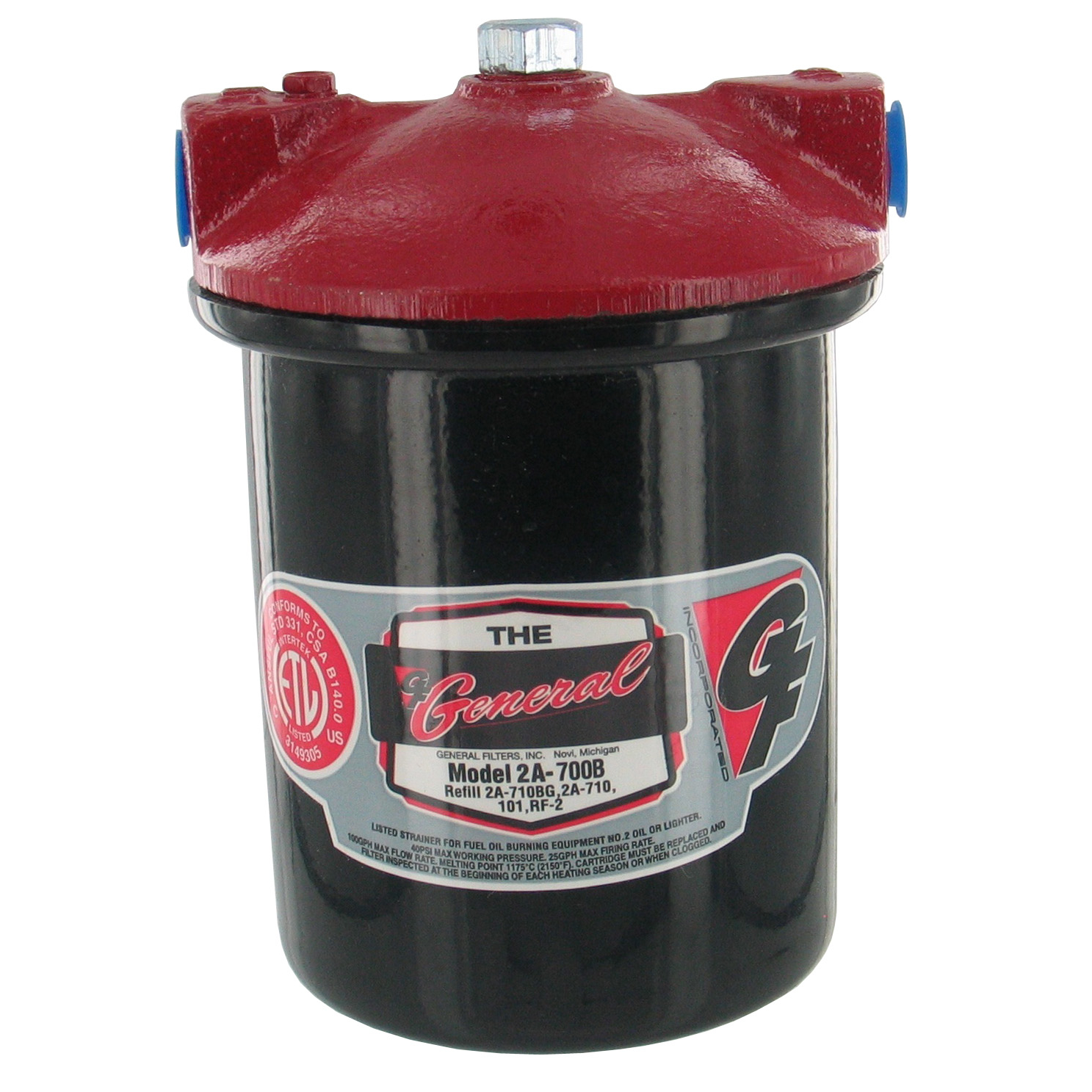 "Gneral Filter 2A-700B 3/8"" 2A-700B Galvanized Steel Fuel Oil Filter"