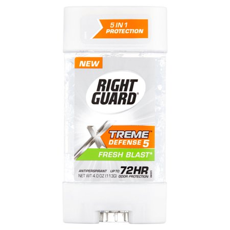 Right Guard  Xtreme  Defense 5 Fresh Blast  Antiperspirant 4 Oz  Stick