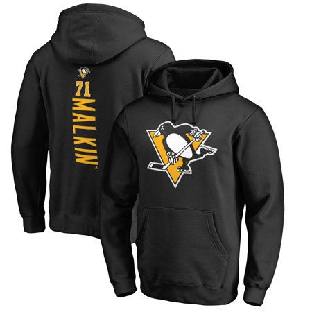 Evgeni Malkin Pittsburgh Penguins Fanatics Branded Backer Name & Number Pullover Hoodie - Black