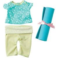 "Manhattan Toy Baby Stella 15"" Baby Doll Yoga Set"