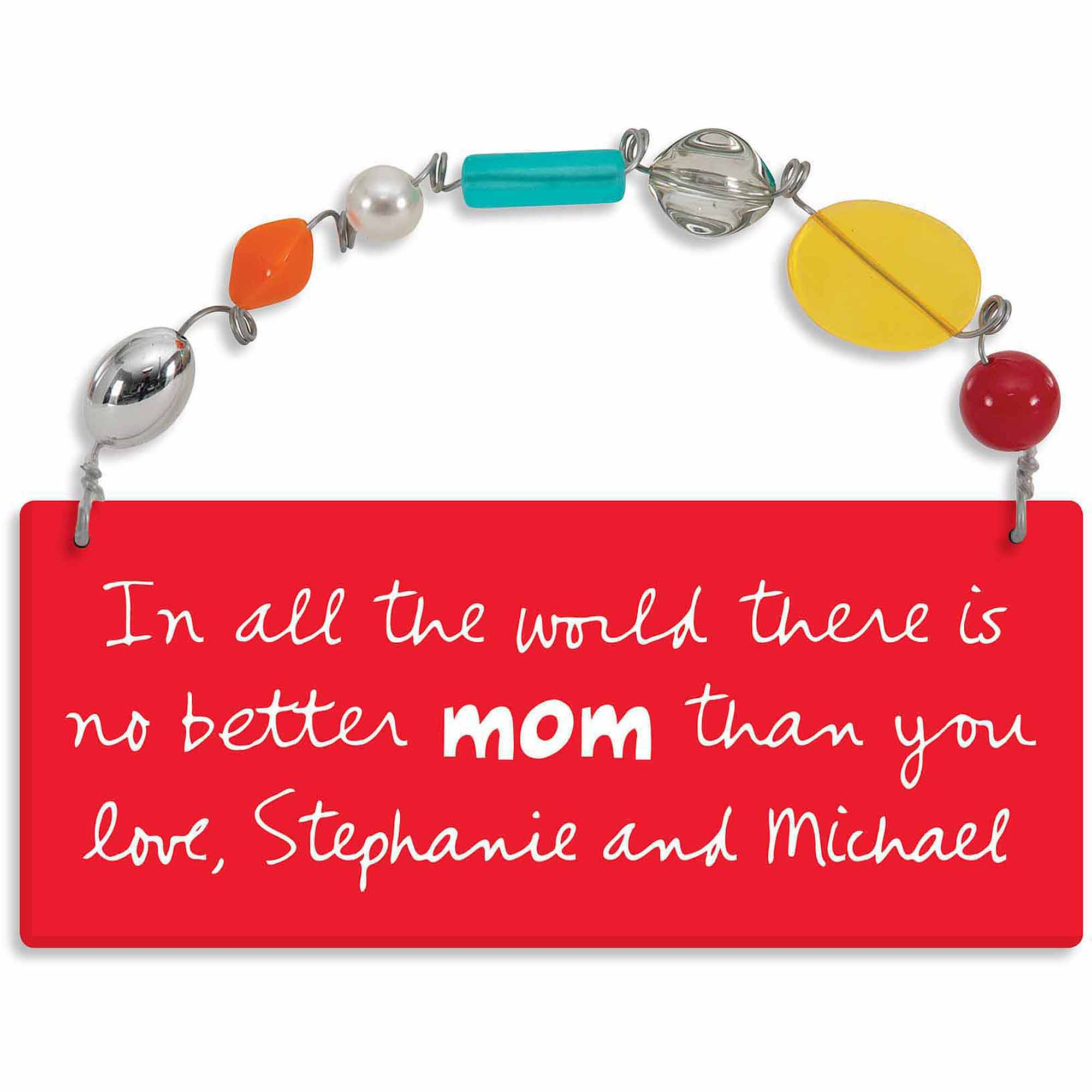 Personalized Sandra Magsamen No Better Mom Than You Wall Plaque
