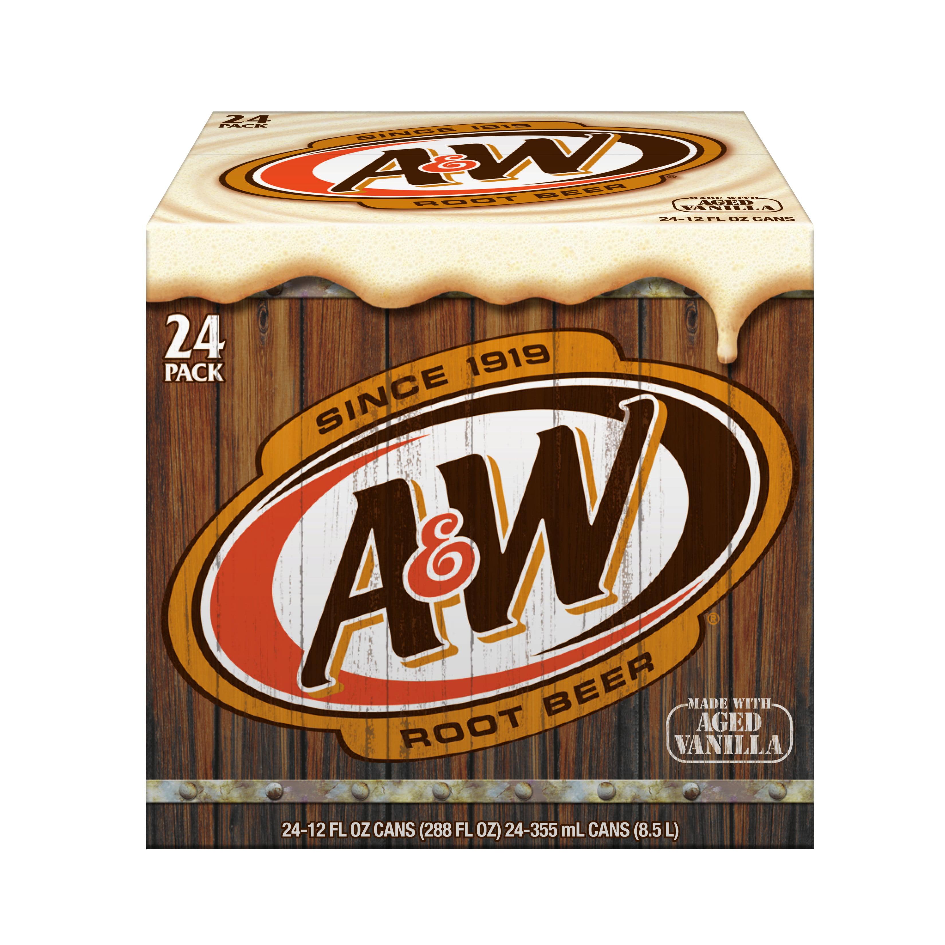Image of A Root Beer, 12 fl oz, 24 pack