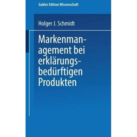 Markenmanagement bei erklarungsbedurftigen Produkten (German Edition) - image 1 of 1
