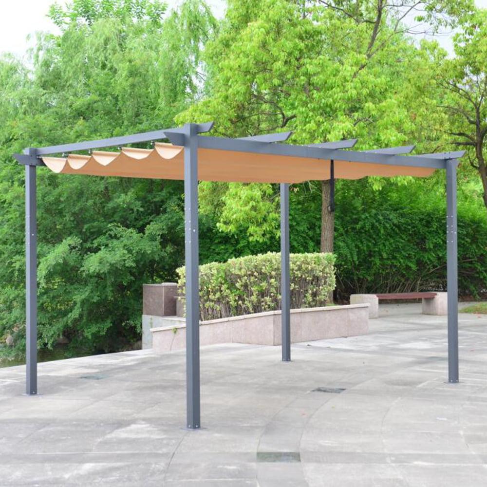 ALEKO Aluminum Outdoor Retractable Canopy Pergola - 13 x ...