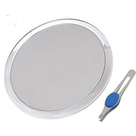 Db Tech Large 8 Suction Cup 10x Magnifying Mirror With Precision Tweezers