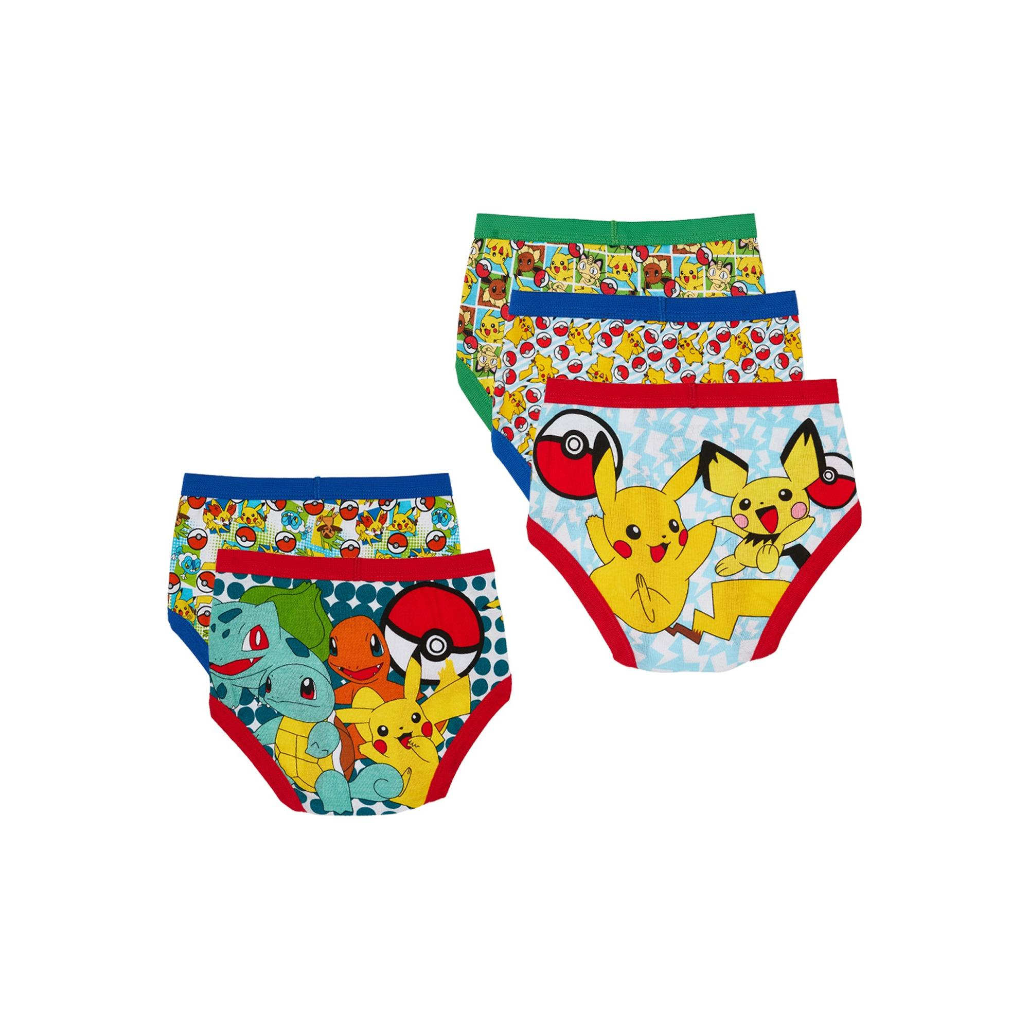 Official Pokemon Gotta Catch Em All Boys Briefs Red White 3-Pack Blue