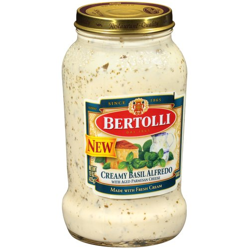 (4 Pack) Bertolli Creamy Basil Alfredo Sauce, 15 oz