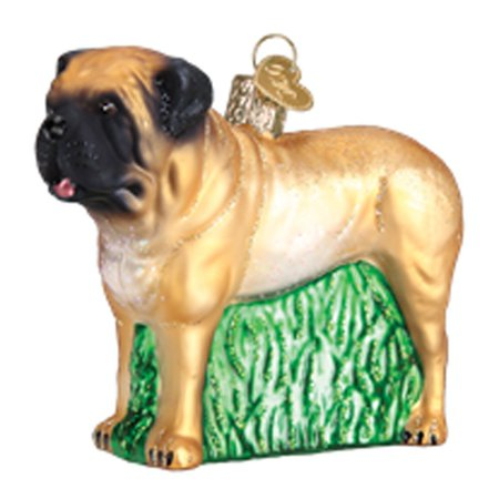 Old World Christmas English Mastiff Glass Tree Ornament 12527 FREE BOX Dog Pet (Mastiff Ornaments)
