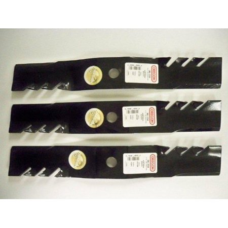 Set of 3, Made In USA Gator 3-In-1 Mulching Blades For John Deere M127500, M127673, or M145476 By JohnDeere ()
