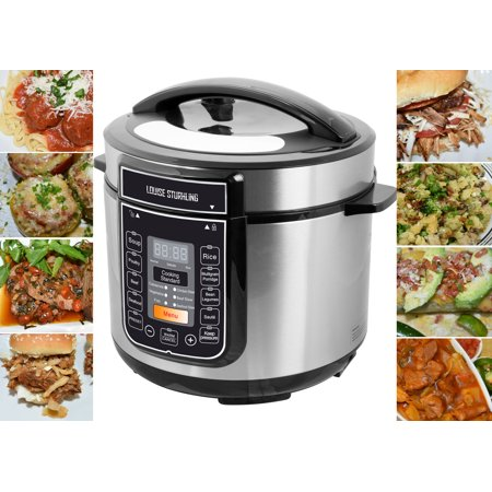LOUISE STURHLING 10-in-1 Programmable 6 Qt Pressure Cooker, 14 Programmed Menus, 7 Safety Features, High-Grade Stainless Steel Body, Durable Double Coated Non-Stick Pot, Plus FREE (Best 10 Qt Pressure Cooker)