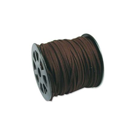 Dark Espresso Brown Faux Leather Suede Ultra Microfiber Beading Cord - Bulk Spool 100 Yd (300 Ft)