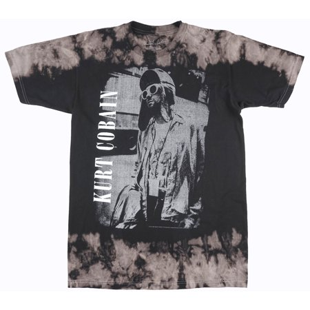 75702594 Music - Kurt Cobain Vintage Print T-Shirt Nirvana Music Artist Rock Band  Black Tie-Dye - Walmart.com