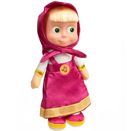 Soft toy Masha sings and talks11 inches, Masha and the bear toys, Masha y el oso, russian doll Masha best choice for birthday - Masha And The Bear Party Supplies