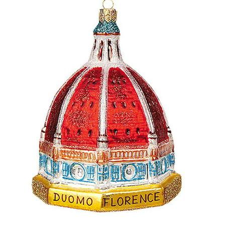 Christmas Italian (Basilica di Santa Maria Del Fiore Florence Italy Duomo Glass Christmas Ornament )