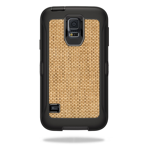 MightySkins Protective Vinyl Skin Decal for OtterBox Defender Samsung Galaxy S5 Case wrap cover sticker skins Wood Weave