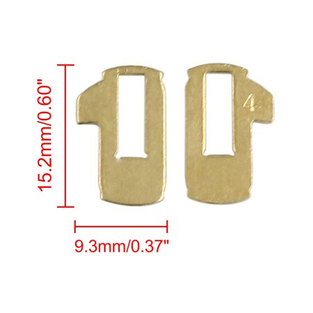 10pcs Gold Tone Car Ignition Lock Cylinder Reed Plate Repair Tools for Nissan - image 1 of 2