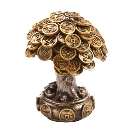 Feng Shui Bronze Golden Money Coin Prosperity Tree Home Decoration - Bronze Gift