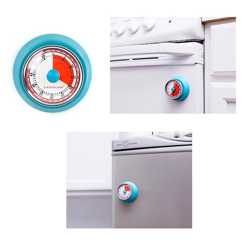 1 Kikkerland Magnetic Kitchen Timer Rotary Cook 55 Min Cooking Alarm Count down by Kikkerland