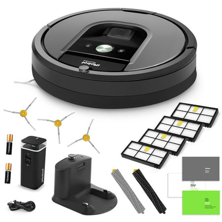 Irobot Roomba 960 Vacuum Cleaning Robot   Virtual Wall Barrier   3 Side Brushes   4 Hepa Filters   Aeroforce Extractors