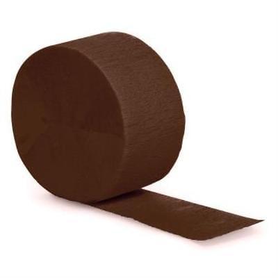 Crepe Paper Streamers 81-foot Roll, Brown, 10PK](Brown Streamers)